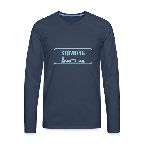 Støvring Byskilt New - Herre premium T-shirt med lange ærmer