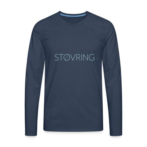 Støvring Plain - Herre premium T-shirt med lange ærmer