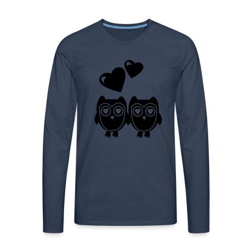 verliebte Eulen - Männer Premium Langarmshirt