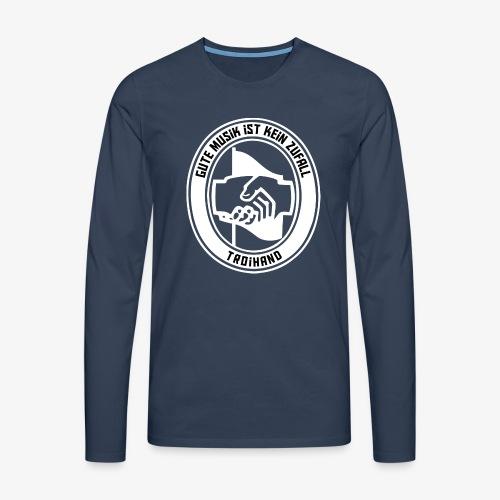 Logo Troihand invertiert - Männer Premium Langarmshirt
