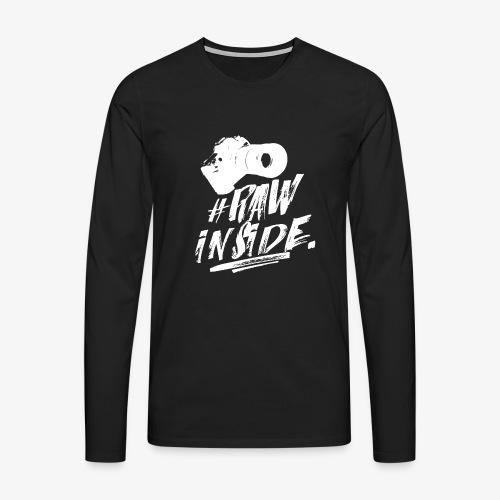 RAW INSIDE wte - Maglietta Premium a manica lunga da uomo