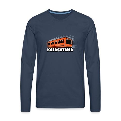 11- METRO KALASATAMA - HELSINKI - LAHJATUOTTEET - Miesten premium pitkähihainen t-paita