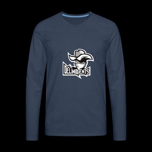 Delinquents TriColor - Herre premium T-shirt med lange ærmer