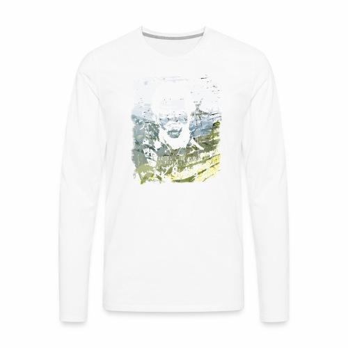 Pablo Escobar distressed - Männer Premium Langarmshirt