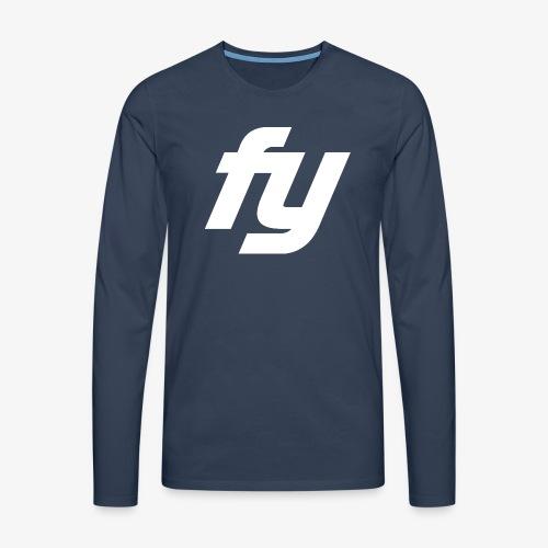 Logo Trendy Weiss - Männer Premium Langarmshirt