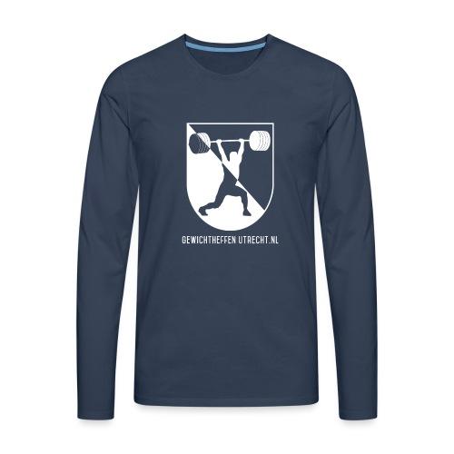 Gewichtheffen Utrecht Logo Trui - Mannen Premium shirt met lange mouwen