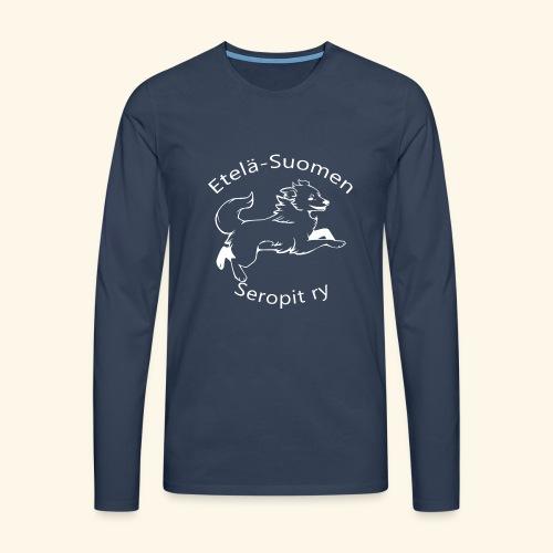 ES seropit logo valk - Miesten premium pitkähihainen t-paita