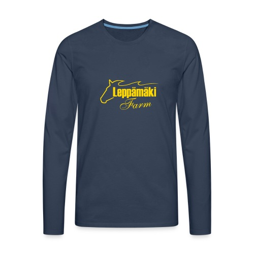 logo-kel - Miesten premium pitkähihainen t-paita