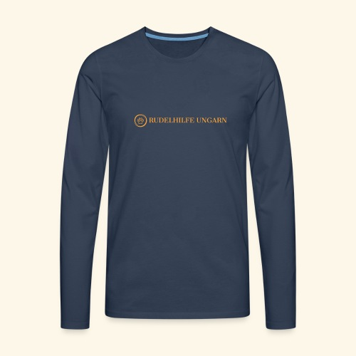 Rudelhilfe Logo - Männer Premium Langarmshirt
