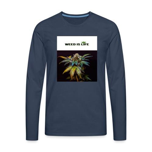 WEED IS LIFE - Männer Premium Langarmshirt