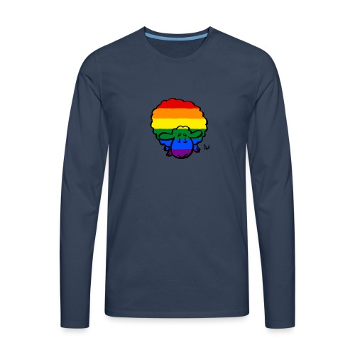 Rainbow Pride Sheep - Herre premium T-shirt med lange ærmer