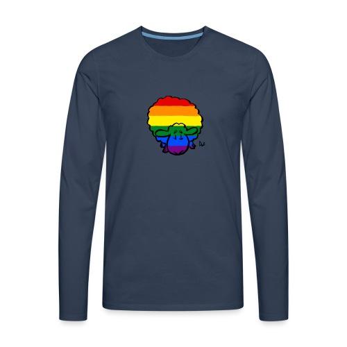 Rainbow Pride Sheep - Koszulka męska Premium z długim rękawem
