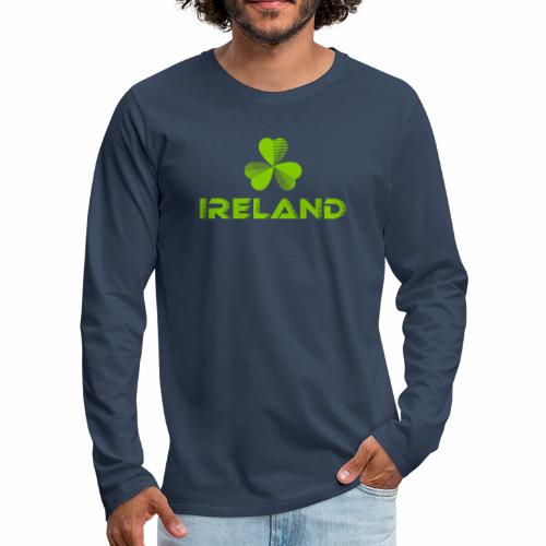 Supporting Ireland Shamrock - Men's Premium Longsleeve Shirt