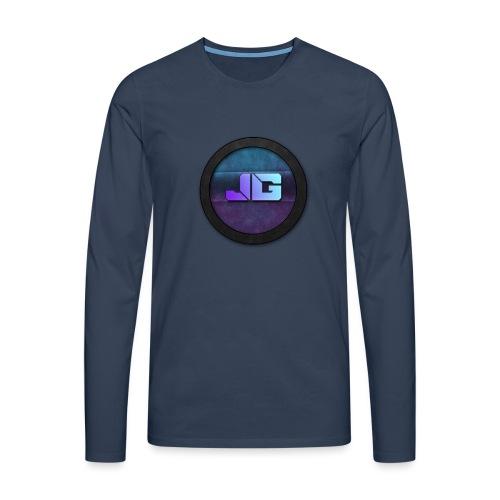 Pet met Logo - Mannen Premium shirt met lange mouwen