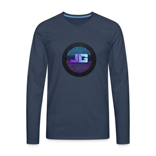 Telefoon hoesje 5/5S met logo - Mannen Premium shirt met lange mouwen