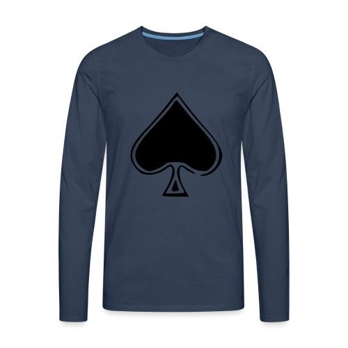 Spade - Miesten premium pitkähihainen t-paita