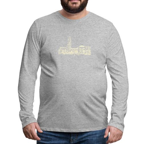 Helsinki railway station pattern trasparent beige - Men's Premium Longsleeve Shirt
