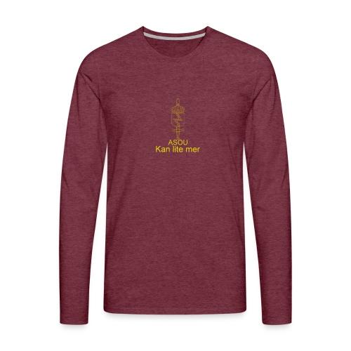 LedSS text png - Långärmad premium-T-shirt herr