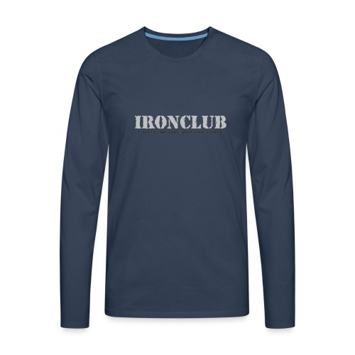 IRONCLUB - a way of life for everyone - Premium langermet T-skjorte for menn