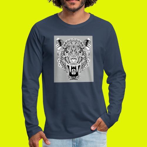 mandala tigre - Maglietta Premium a manica lunga da uomo