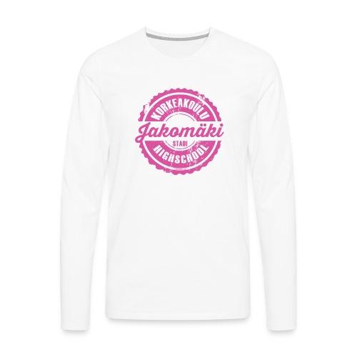 77P-JAKOMÄEN KORKEAKOULU - Stadi, Helsinki - Miesten premium pitkähihainen t-paita
