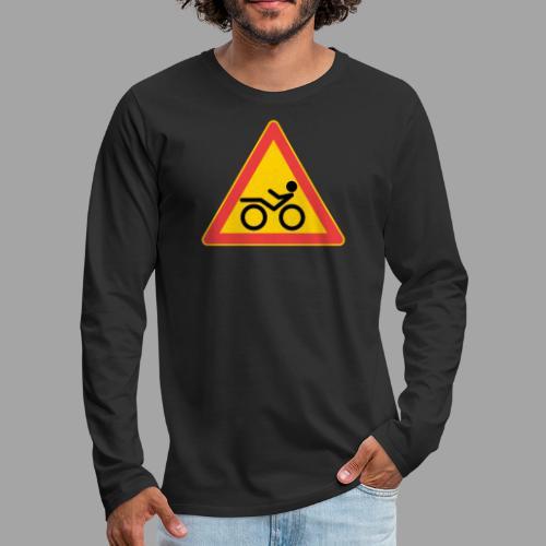 Traffic sign Recumbent - Miesten premium pitkähihainen t-paita