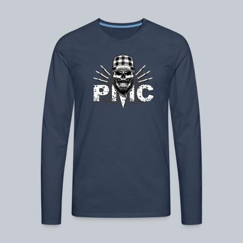 PMC Skull white - Männer Premium Langarmshirt