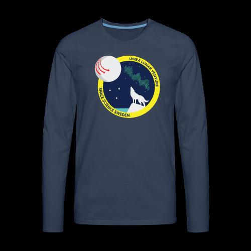 ULV - Umeå Lunar Venture - Långärmad premium-T-shirt herr