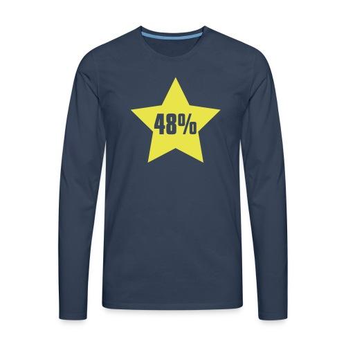 48% in Star - Men's Premium Longsleeve Shirt