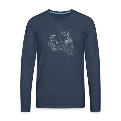 snm daelim othello sport outline w png - Männer Premium Langarmshirt