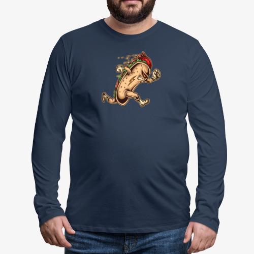 Hot Dog-Held - Männer Premium Langarmshirt