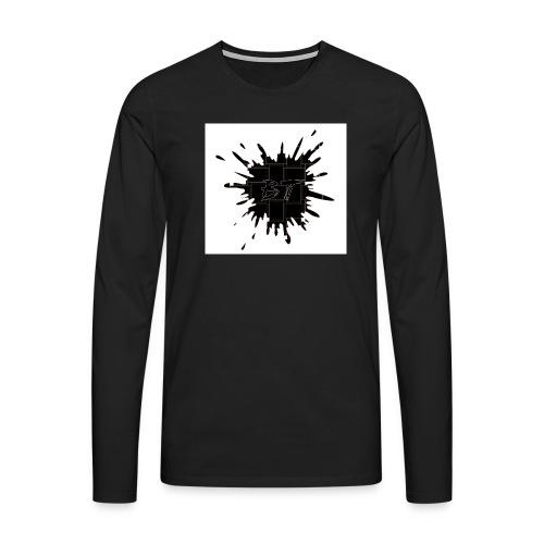 Blacktuber Splash Logo - Mannen Premium shirt met lange mouwen
