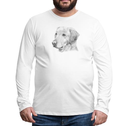 Golden retriever 2 - Herre premium T-shirt med lange ærmer