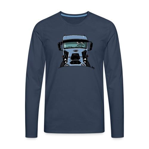 0812 F truck blue - Mannen Premium shirt met lange mouwen