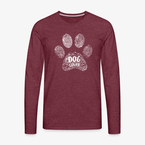 dog lover paw - Männer Premium Langarmshirt