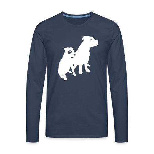 Doggy / zwei brave Hunde zum verschenken - Männer Premium Langarmshirt