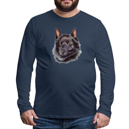 schipperke - M - Herre premium T-shirt med lange ærmer