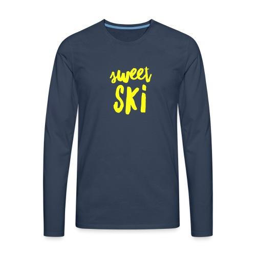 Sweet Ski Yellow - Männer Premium Langarmshirt