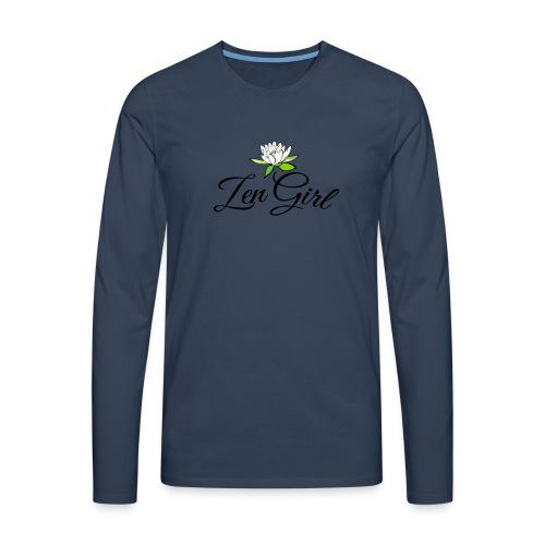 zengirl with lotusflower for purity in life - Långärmad premium-T-shirt herr