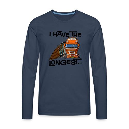 0793 D Truck I have the longest loads (FRONT+BACK) - Mannen Premium shirt met lange mouwen