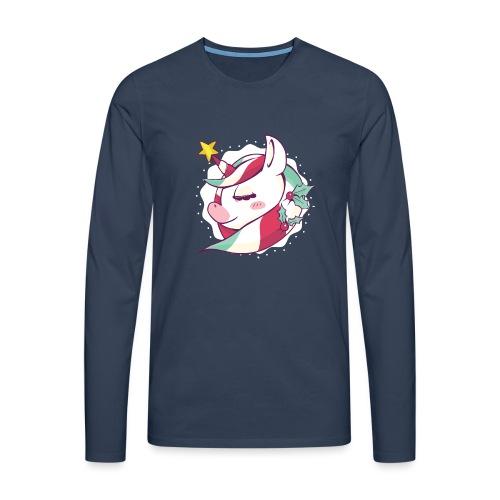 Rudolph Unicorn - Männer Premium Langarmshirt