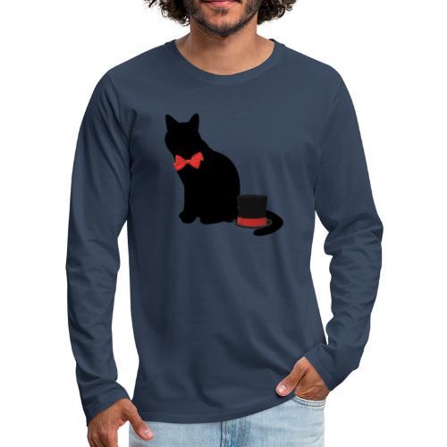 chat noir - T-shirt manches longues Premium Homme