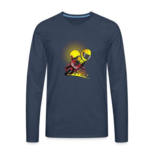 0791 fjr ROOD sun - Mannen Premium shirt met lange mouwen