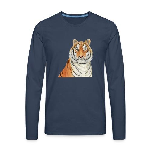 Tigre,Tiger,Wildlife,Natura,Felino - Maglietta Premium a manica lunga da uomo