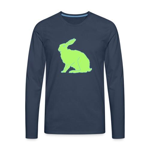 Grüner Hase - Männer Premium Langarmshirt