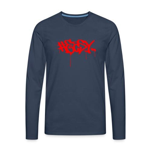 #EASY Graffiti Logo T-Shirt - Maglietta Premium a manica lunga da uomo