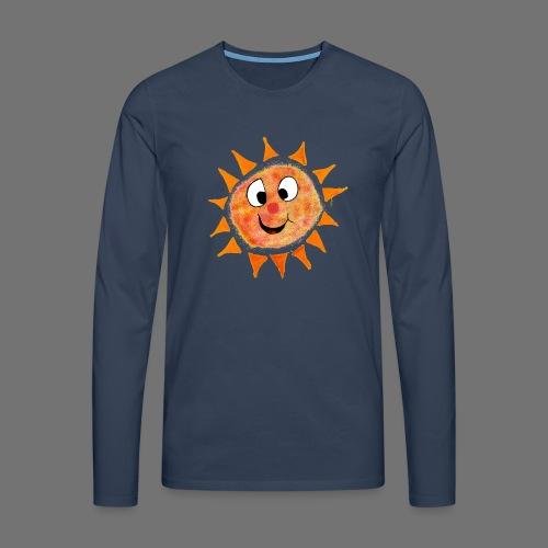 Słońce - Koszulka męska Premium z długim rękawem