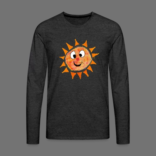 Aurinko - Miesten premium pitkähihainen t-paita