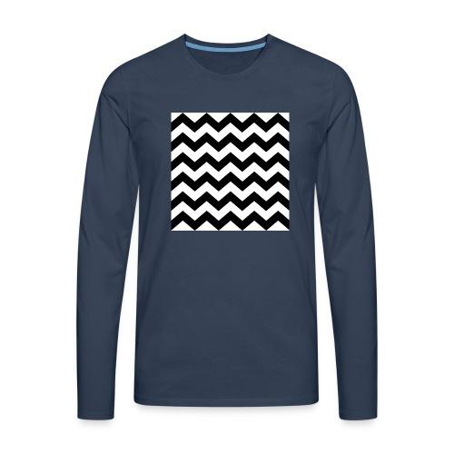zigzag png - T-shirt manches longues Premium Homme