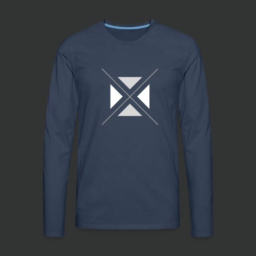 hipster triangles - Men's Premium Longsleeve Shirt